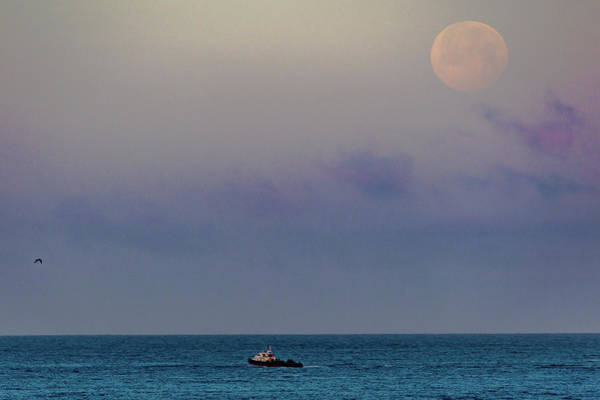 Photograph - Moon Set At Sunrise by Jack Peterson