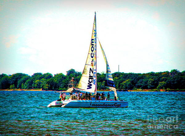 Photograph - Moondance Cat Catamaran Buffalo New York Slight Abstract Special Effect by Rose Santuci-Sofranko
