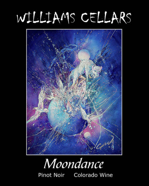 Painting - Moondance Wine Label by Williams Cellars