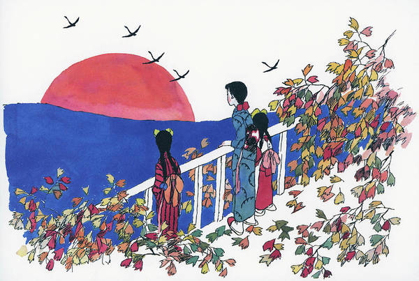 Wall Art - Painting - Moonlight - Digital Remastered Edition by Takehisa Yumeji