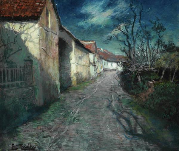 Wall Art - Painting - Moonlight In Beaulieu by Fritz Thaulow