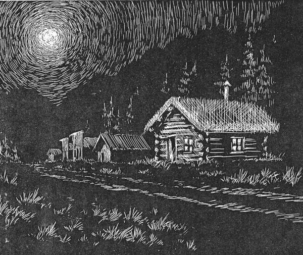 Drawing - Moonlight by Kevin Heaney