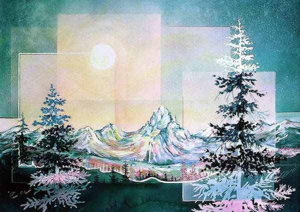 Painting - Moonlight Mountain by Connie Williams