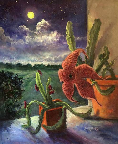 Painting - Moonlight Mystery by Randy Burns