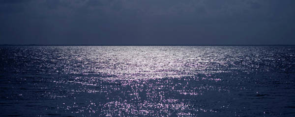 Wall Art - Photograph - Moonlight On Flat Horizon View Of The by Mando19
