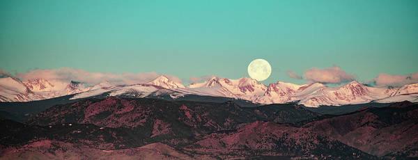 Photograph - Moonlight Over Colorado Mountains by Patricia Awapara