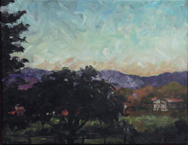 Painting - Moonlight Ranch by Susan Moore