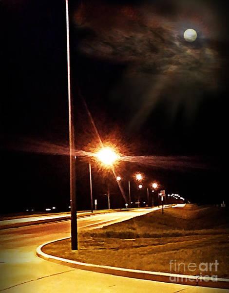 Mixed Media - Moonlight Walk by Diamante Lavendar
