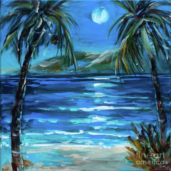 Painting - Moonlit Bay by Linda Olsen