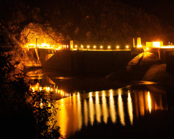 Photograph - Moonlit Dam by Maria Reverberi