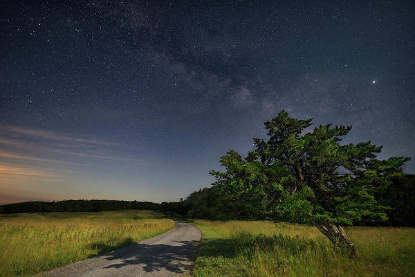 Wall Art - Photograph - Moonlit Meadows Road by Art Cole