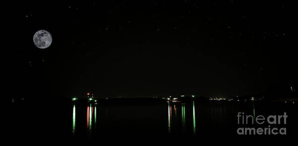 Photograph - Moonlit Medina Lake San Antonio Tx 8364a by Ricardos Creations