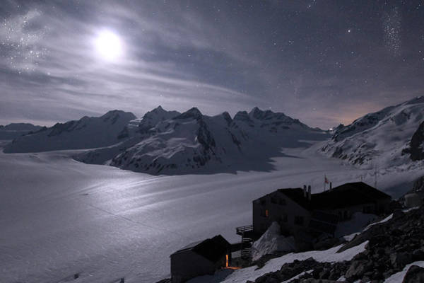 Wall Art - Photograph - Moonlit Night In The Mountains by Alex Lim
