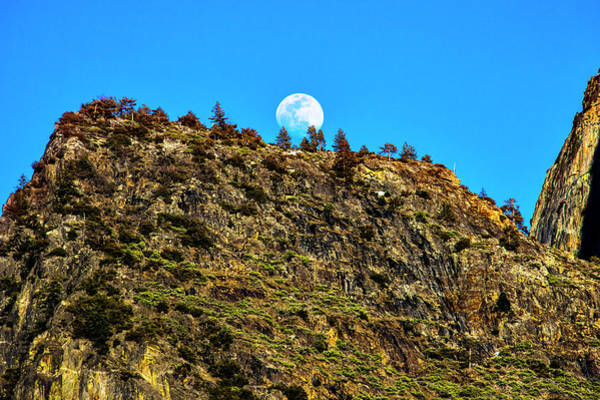 Wall Art - Photograph - Moonrise Behind Yosemite Ridge by Garry Gay
