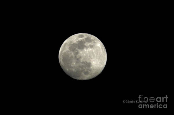 Photograph - Moonrise Enhanced To Highlight Craters by Monica C Stovall