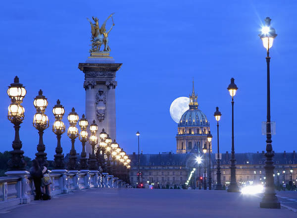 Invalides Photograph - Moonrise In Evening by Grant Faint Productions