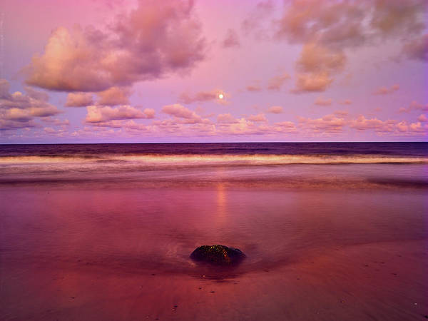 Photograph - Moonrise, Mayaro by Trinidad Dreamscape