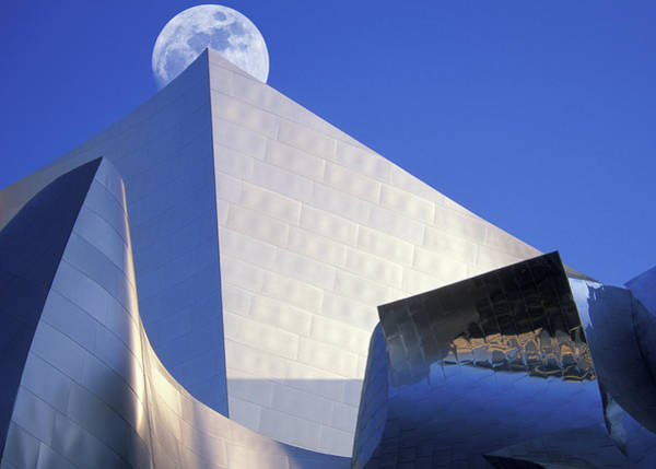 Concert Hall Photograph - Moonrise Over Concert Hall by Grant Faint