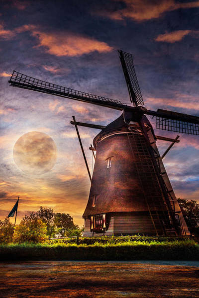 Photograph - Moonrise Over Holland  by Debra and Dave Vanderlaan