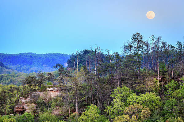 Wall Art - Photograph - Moonrise Over Red River Gorge by Alexey Stiop