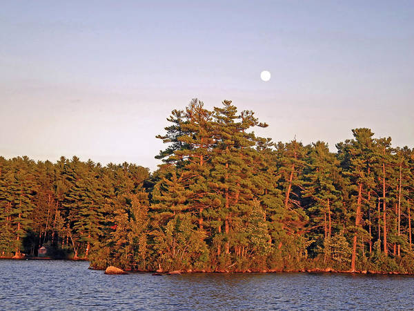 Photograph - Moonrise Over The Island In Late Day Light  by Lynda Lehmann