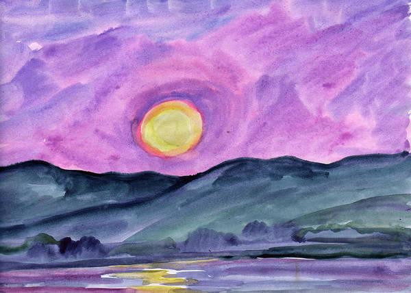 Painting - Moonrise Over The Lake by Irina Dobrotsvet