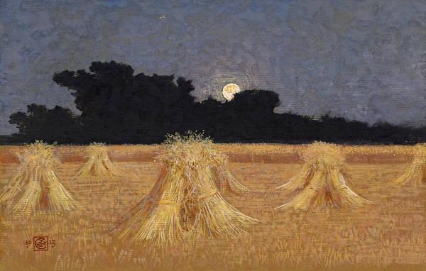 Drawing - Moonrise by Walter Crane