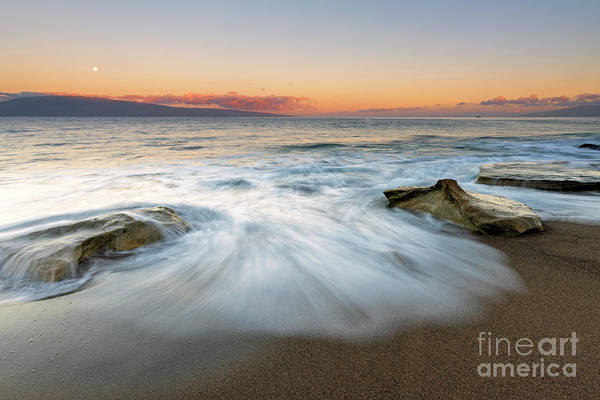 Wall Art - Photograph - Moonset Over Paradise by Mike Dawson