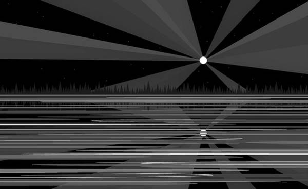 Wall Art - Digital Art - Moonshine In Black And White by Val Arie