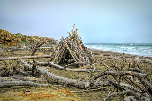 Wall Art - Photograph - Moonstone Beach Driftwood Beach House by Floyd Snyder