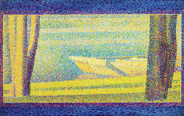 Wall Art - Painting - Moored Boats And Trees - Digital Remastered Edition by Georges Seurat