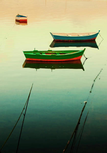 Galicia Photograph - Moored Boats At Sunset by Juan R. Fabeiro