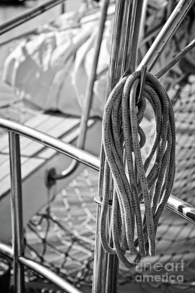 Wall Art - Photograph - Mooring Rope 2 by Delphimages Photo Creations