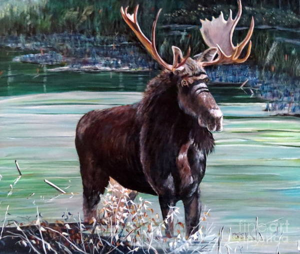 Painting - Moose County by Marilyn  McNish