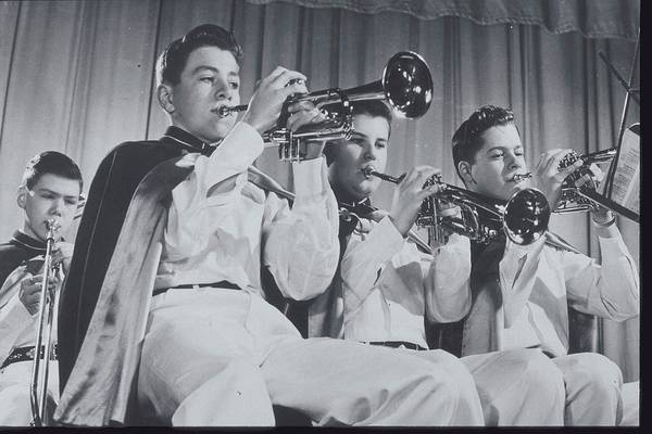High School Photograph - Mooseheart High School Band, 1950 by Archive Holdings Inc.