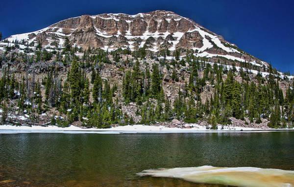 Camera Raw Photograph - Moosehorn Lake Under Bald Mountain by Brenton Cooper