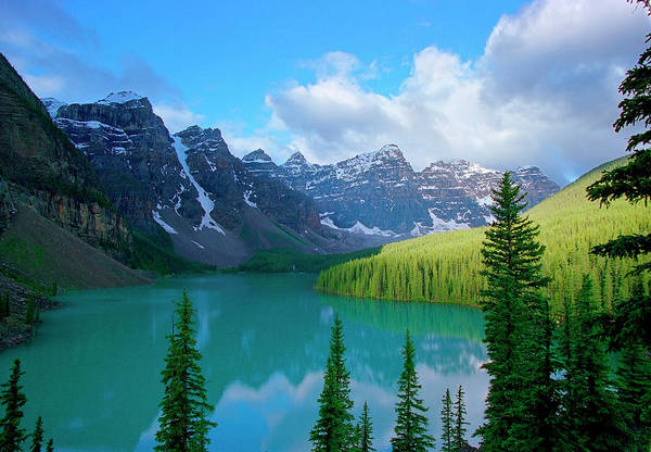 Moraine Lake Photograph - Moraine Lake In Banff National Park by Myloupe/uig