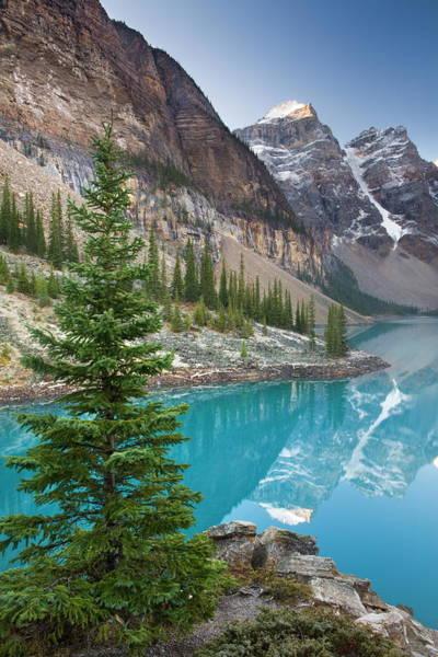 Photograph - Moraine Lake In The Canadian Rockies by Adam Burton / Robertharding