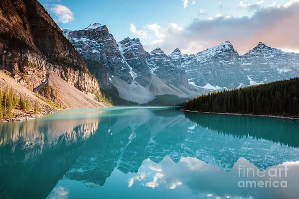 Wall Art - Photograph - Moraine Lake Sunset, Banff, Canada by Matteo Colombo