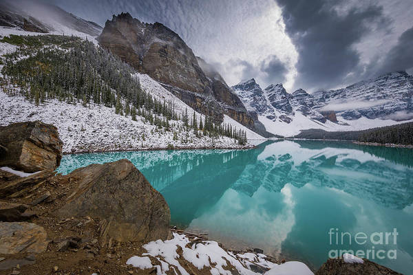 Canadian Rocky Mountains Photograph - Moraine Lake Valley by Inge Johnsson