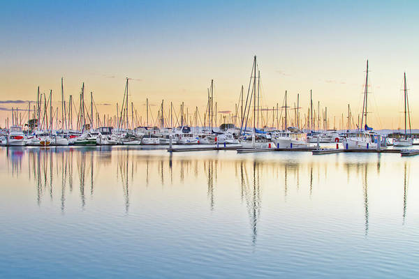 Scarborough Photograph - Moreton Bay Marina by Brisbane Architectual And Landscape Photographer