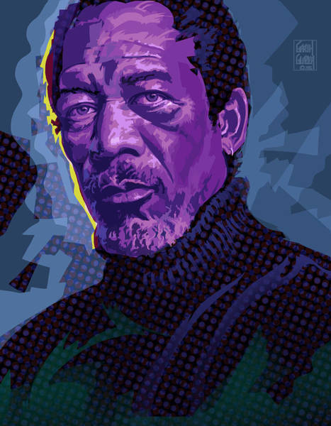 Wall Art - Digital Art - Morgan Freeman Pop Art Portrait by Garth Glazier
