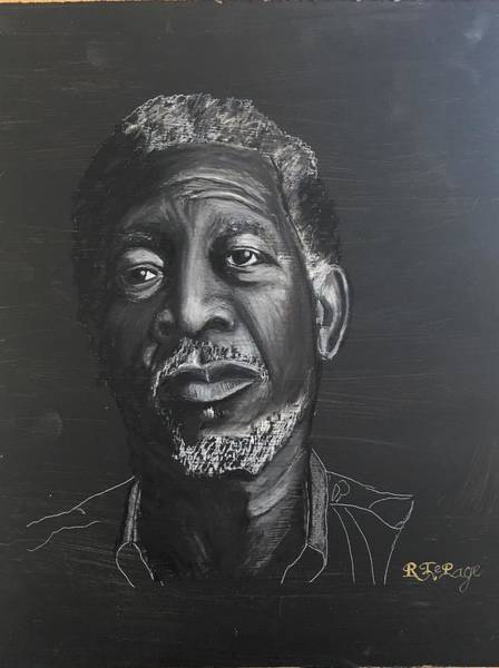 Pastel - Morgan Freeman by Richard Le Page