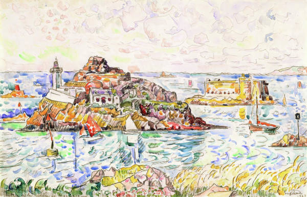 Wall Art - Painting - Morlaix, Entrance Of The River - Digital Remastered Edition by Paul Signac