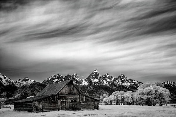 Photograph - Mormon Barn Under The Tetons by Jon Glaser