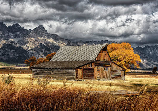 Photograph - Mormon Row Barn by Wes and Dotty Weber