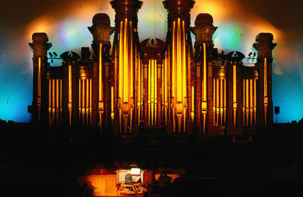 Pipe Organ Photograph - Mormon Tabernacle Organ, Temple Square by Holger Leue