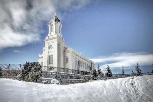 Wall Art - Photograph - Mormon Temple In Cedar City by Donna Kennedy