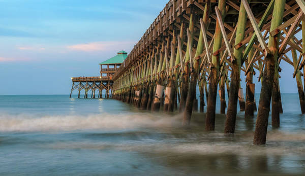 Photograph - Morning At Folly Beach Pier by Dan Sproul