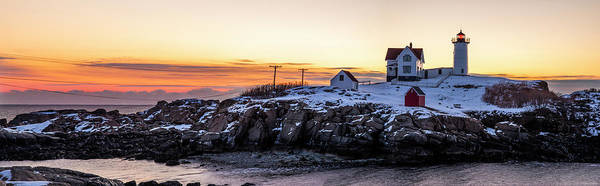 Photograph - Morning At Nubble by Mark Papke